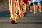 Fototapety Marathon running in the light of evening