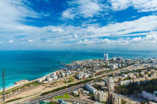 Foto op Canvas Caraïben Aerial View of Haifa city