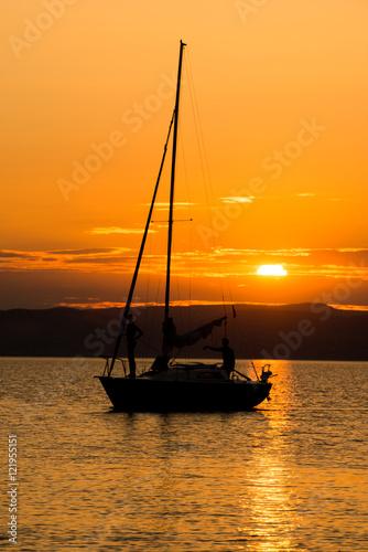 In de dag Oranje eclat sunset at Balaton