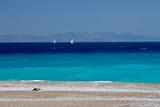 Plaża na przylądku Zonari,Rodos,Grecja