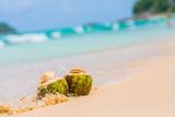 Тайские кокосы, пляж.