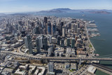 Afternoon Aerial of San Francisco City and Bay