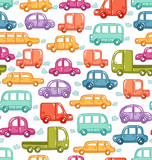 Doodle cars seamless pattern