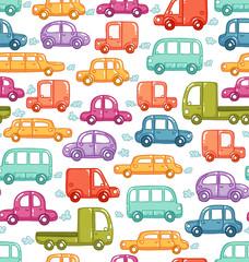 Doodle cars seamless pattern © Stolenpencil