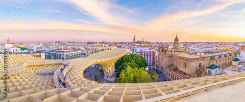 On the top of the mushroom of Seville