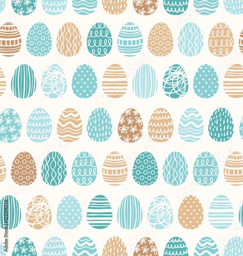 Materiał do szycia Easter eggs ornaments seamless pattern