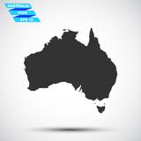 gray vector australia icon