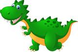 Kreskówka ładny zielony dinozaur