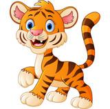 Cute baby tiger cartoon