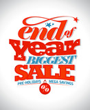 Fototapety End of year biggest sale banner.