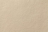 Fototapety Light beige leather texture background with pattern, closeup