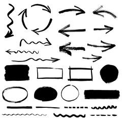Sketchy design elements