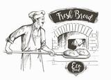 Fototapety bakerl baked bread