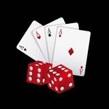 poker cards game casino vector illustration design