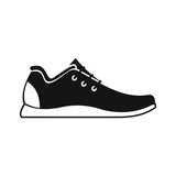 Athletic shoe icon in simple style on a white background vector illustration