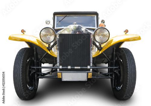 Plakat Classic car isolated on white