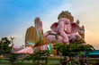 ������, ������: pink Ganesh in sun set time Ganesh is the deity in Hinduism Revered as the god of knowledge An intellectual excellence Filmmaking renaissance in all fields