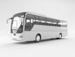 Pullman o bus turistico vuoto bianco e nero