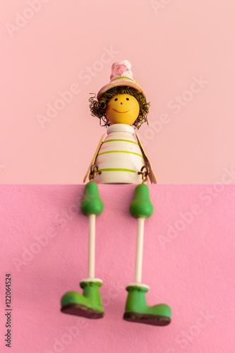 Poster Sitting Wooden Toys, Gift Color Baby Dolls..