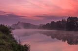 Colorful morning over Vistula river near Krakow, Poland - 122069305