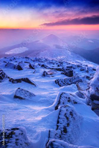 Fotobehang Winter landscape