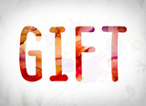 Gift Concept Watercolor Word Art