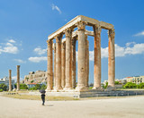 Athens columns of olympian Zeus ancient temple, Greece