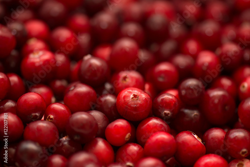 Poster Cranberry, wild berry, background and texture