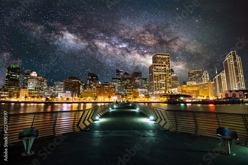 Milky Way over Downtown in San Francisco