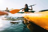 Couple kayaking. - 122135385