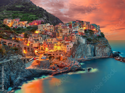 Poster Manarola Cinque Terre Italien