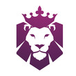 Vector Purple Head Lion Logo