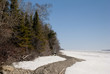 Trees at the lakeside, Lake Winnipeg, Hecla Grindstone Provincia