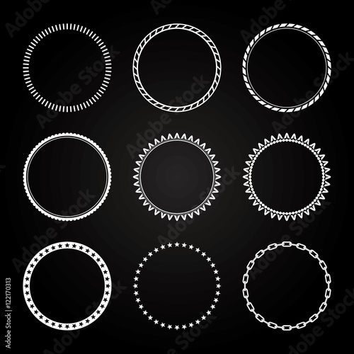 Collection of  different styles of Circle Frame and border - 122170313