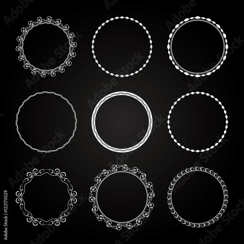 Collection of  different styles of Circle Frame and border - 122170329