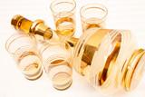 Gold Overlay Czech Glass Deecanter