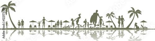 people on the beach, summer holidays - 122173384