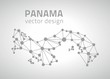 Panama vector outline mosaic grey map