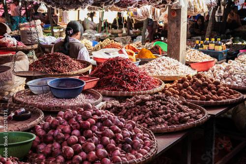 Poster Myanmar - Maymyo Market