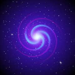 Abstract Space background. Spiral galaxy. Vector illustration