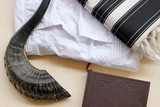 Prayer items for Jewish repentance day (Yom Kippur)