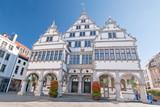 Das Rathaus von Paderborn, Westfalen