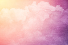 fantasy sky and cloud with pastel gradient color and grunge texture