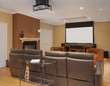In-Home Theater in Luxury Home with copy space.