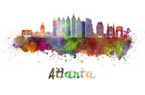 Atlanta V2 skyline in watercolor