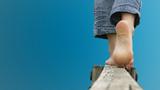 marche pieds nus - deep blue