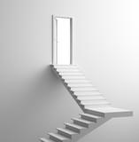 Porta con scalinata bianca salita o arrivo
