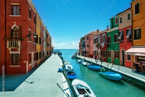 Colorful houses on Burano Poster