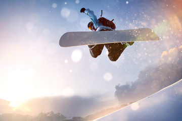 fototapeta snowboarder