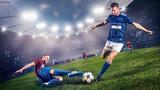 Duell im Fußball - 122268947